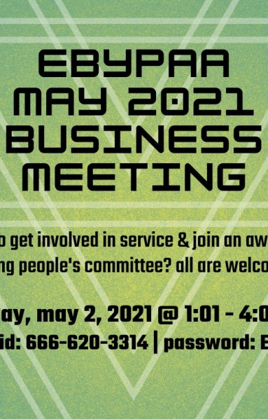 EBYPAA May Business meeting